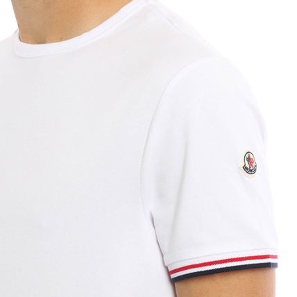 MONCLER Crew Neck Crew Neck Blended Fabrics Plain Cotton Short Sleeves 12