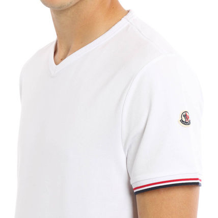 MONCLER Crew Neck Crew Neck Blended Fabrics Plain Cotton Short Sleeves 16