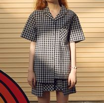 rolarola Other Check Patterns Casual Style Cotton Short Sleeves