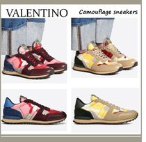 VALENTINO Camouflage Street Style Sneakers