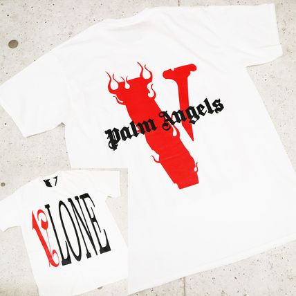 VLONE Crew Neck Street Style Cotton Oversized Logo T-Shirt
