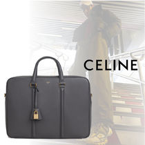 CELINE Plain Leather Business & Briefcases