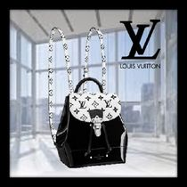 Louis Vuitton HOT SPRINGS 2WAY Bi-color Leather Elegant Style Backpacks