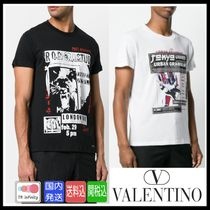 VALENTINO Crew Neck Cotton Short Sleeves Crew Neck T-Shirts