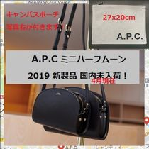 A.P.C. Casual Style Leather Shoulder Bags