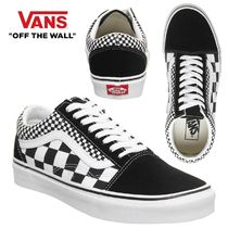 VANS OLD SKOOL Other Check Patterns Platform Casual Style Unisex