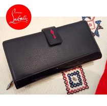 Christian Louboutin Paloma Plain Leather Long Wallets