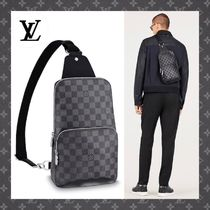 Louis Vuitton DAMIER GRAPHITE Unisex Canvas Bags