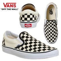 VANS SLIP ON Other Check Patterns Platform Casual Style Unisex