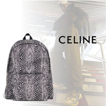 CELINE Nylon Python Backpacks