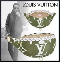 Louis Vuitton BUMBAG Monogram Unisex Blended Fabrics Street Style 2WAY Leather