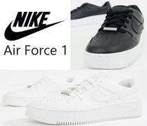 Nike AIR FORCE 1 Platform Casual Style Unisex Street Style Plain Leather
