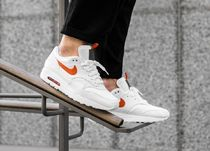 Nike AIR MAX 1 Street Style Plain Leather Sneakers