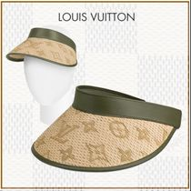 Louis Vuitton Blended Fabrics Khaki Hats & Hair Accessories