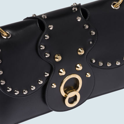 MiuMiu Shoulder Bags Calfskin Studded Plain Party Style Shoulder Bags 5