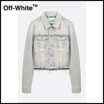 Off-White Casual Style Denim Medium Jackets