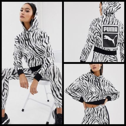 Short Sweat Street Style Long Sleeves Other Animal Patterns