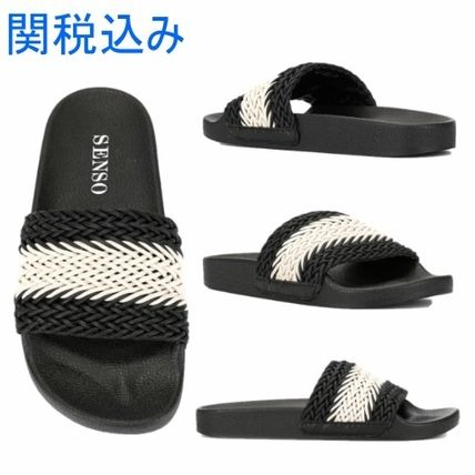 Gingham Tartan Casual Style Collaboration Shower Shoes