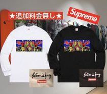 Supreme Crew Neck Street Style Long Sleeves Long Sleeve T-Shirts