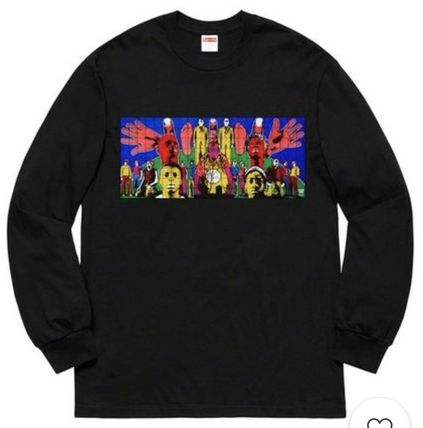 Supreme Long Sleeve Crew Neck Street Style Long Sleeves Long Sleeve T-Shirts 8
