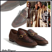 Salvatore Ferragamo Loafers Leather Python Loafers & Slip-ons