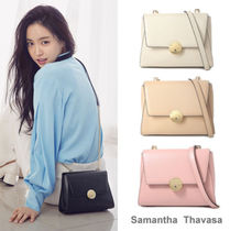 Samantha Thavasa Casual Style Street Style 2WAY Chain Leather Shoulder Bags