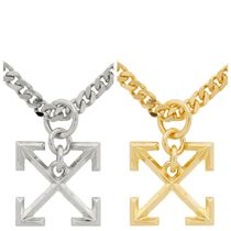 Off-White Unisex Street Style Chain Metal Necklaces & Chokers