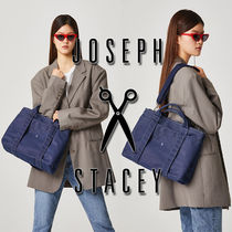 JOSEPH&STACEY Casual Style Canvas Street Style A4 Totes