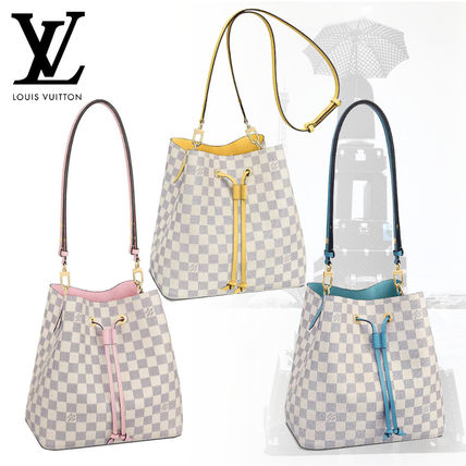 064df168 Louis Vuitton NEONOE 2019 SS Other Check Patterns Canvas Blended Fabrics  Purses (N40153, N40151, N40152)
