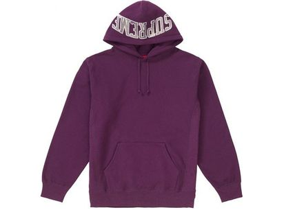 Supreme Hoodies Pullovers Unisex Sweat Street Style Long Sleeves Plain 5