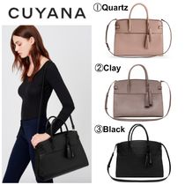CUYANA Casual Style A4 2WAY Plain Leather Office Style