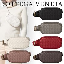 BOTTEGA VENETA Unisex Lambskin Plain Hip Packs