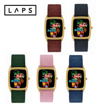 LAPS Casual Style Square Quartz Watches Stainless Analog Watches
