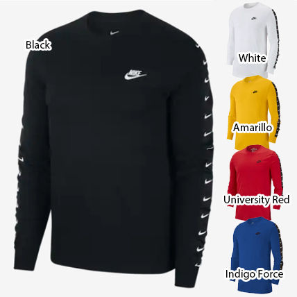 Nike Long Sleeve Crew Neck Street Style Long Sleeves Plain Cotton 2