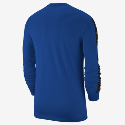 Nike Long Sleeve Crew Neck Street Style Long Sleeves Plain Cotton 4