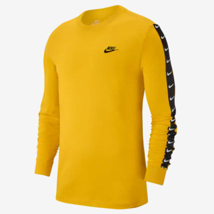 Nike Long Sleeve Crew Neck Street Style Long Sleeves Plain Cotton 5