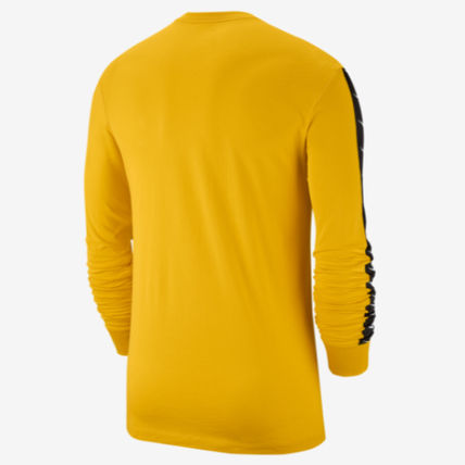 Nike Long Sleeve Crew Neck Street Style Long Sleeves Plain Cotton 6