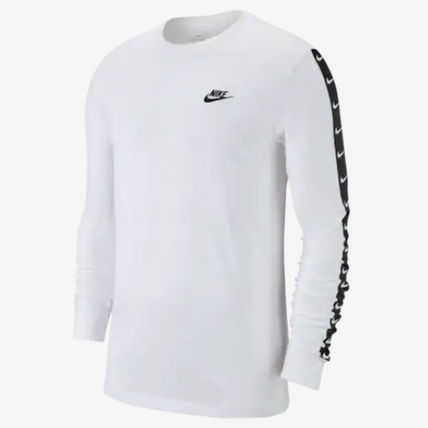 Nike Long Sleeve Crew Neck Street Style Long Sleeves Plain Cotton 7