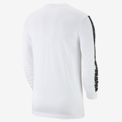 Nike Long Sleeve Crew Neck Street Style Long Sleeves Plain Cotton 8
