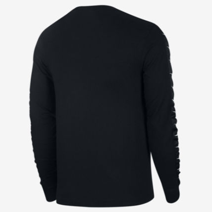 Nike Long Sleeve Crew Neck Street Style Long Sleeves Plain Cotton 10