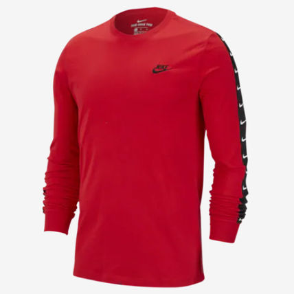 Nike Long Sleeve Crew Neck Street Style Long Sleeves Plain Cotton 11