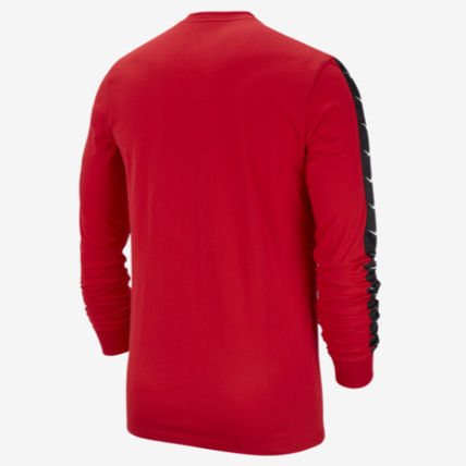 Nike Long Sleeve Crew Neck Street Style Long Sleeves Plain Cotton 12