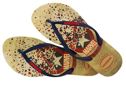 Star Casual Style Unisex Collaboration Flip Flops