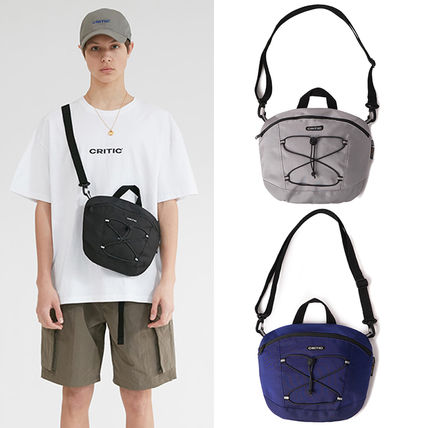 Casual Style Unisex Street Style Plain Shoulder Bags