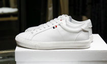 MONCLER MONACO Street Style Plain Leather Logo Sneakers