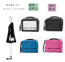 MARC JACOBS Box Bag Casual Style Leather Shoulder Bags