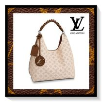 Louis Vuitton Monogram Casual Style Blended Fabrics A4 Leather Totes