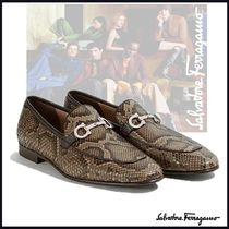 Salvatore Ferragamo Loafers Leather U Tips Python Loafers & Slip-ons