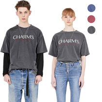 Charm's Pullovers Unisex Street Style Collaboration Long Sleeves