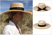 lack of color Oversized Straw Hats